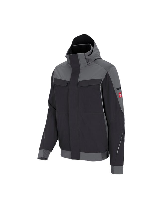 Jacken: Winter Funktions Jacke e.s.dynashield + zement/graphit
