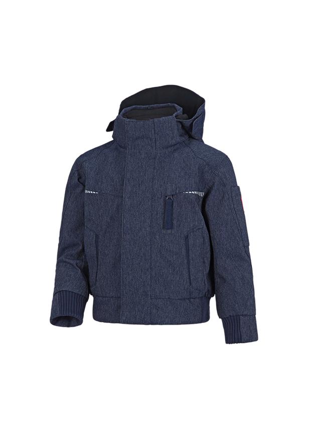 Jackets: Winter functional pilot jacket e.s.motion denim,c. + indigo