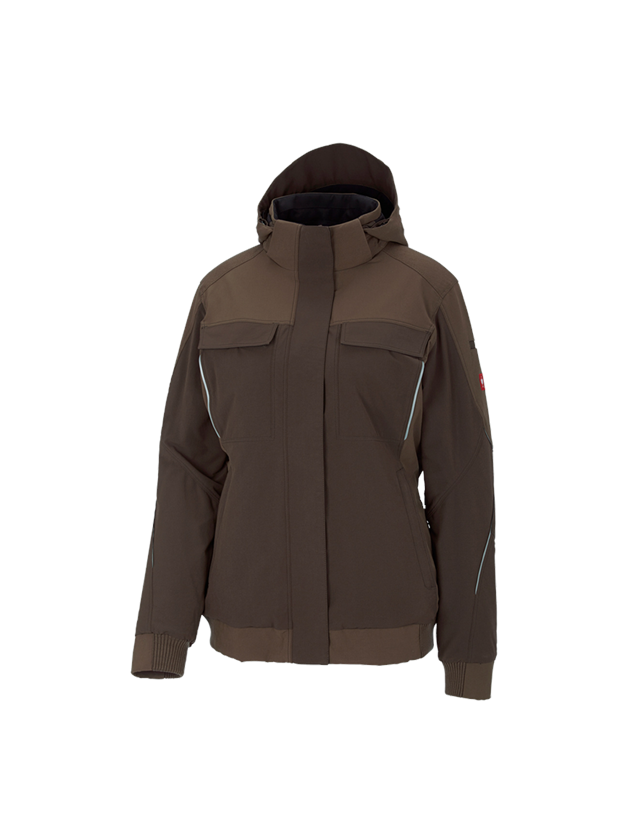 Vestes de travail: Veste de fonction d'hiver e.s.dynashield, femmes + noisette/marron