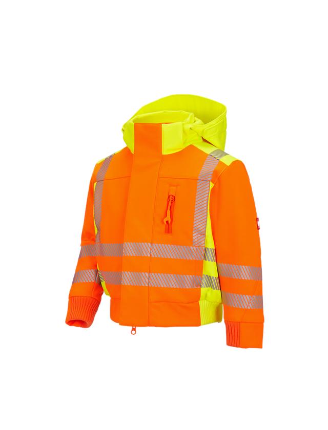 Vestes: Veste softsh. signal. d'hiver e.s.motion 2020,e + orange fluo/jaune fluo
