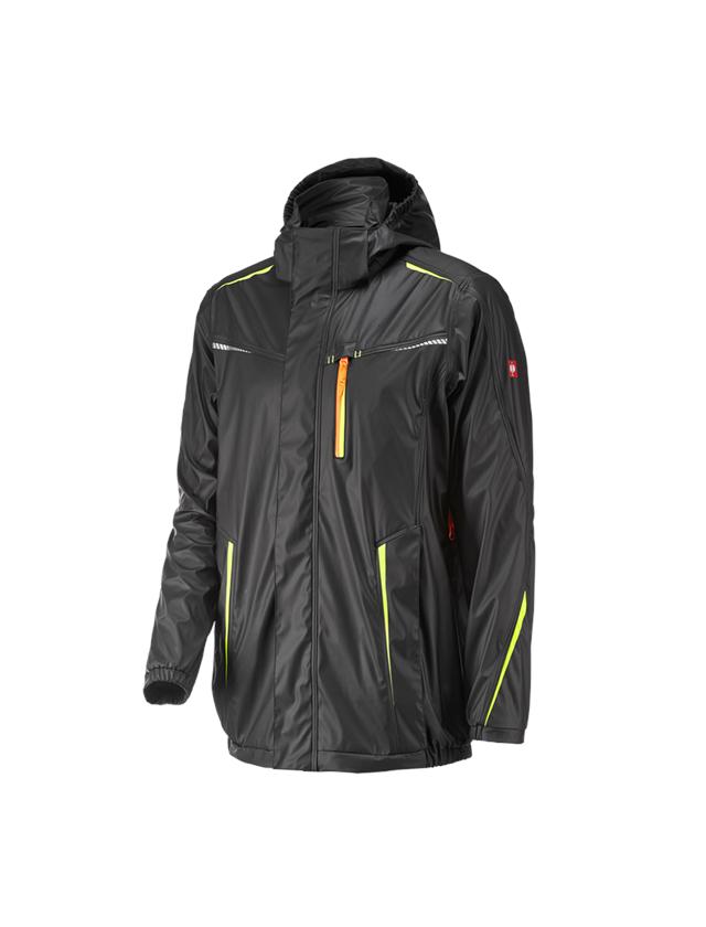 Jacken: Regenjacke e.s.motion 2020 superflex + schwarz/warngelb/warnorange