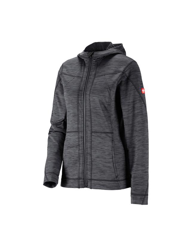 Work Jackets: Hooded jacket isocell e.s.dynashield, ladies' + graphite melange