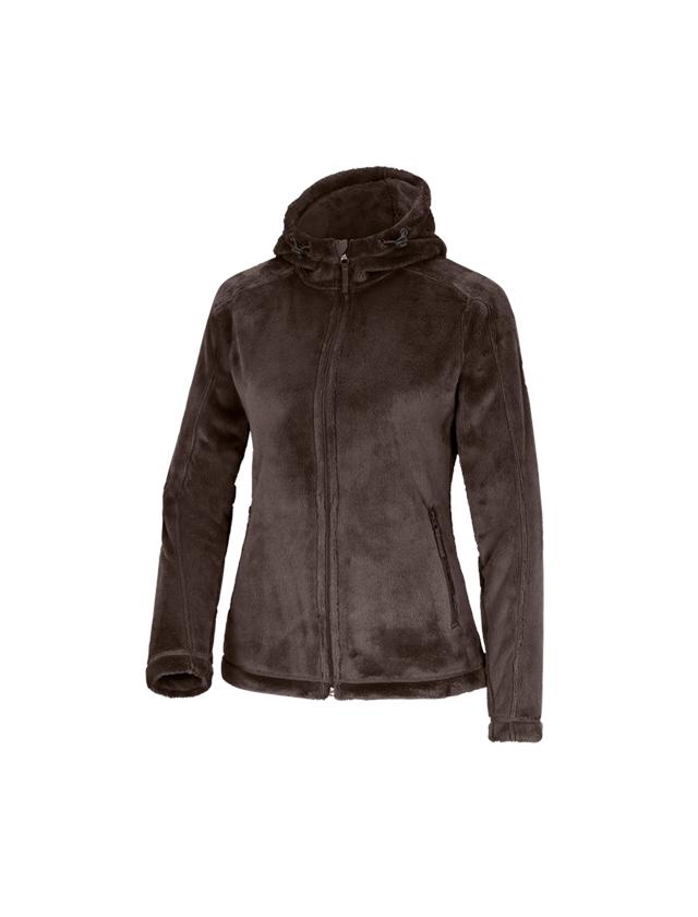 Work Jackets: e.s. Zip jacket Highloft, ladies' + chestnut