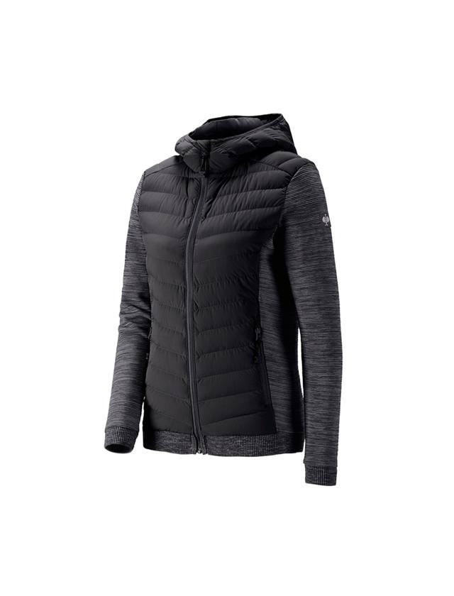 Vestes de travail: Veste en tricot à capuche hybr. e.s.motion ten, f. + noir oxyde mélange