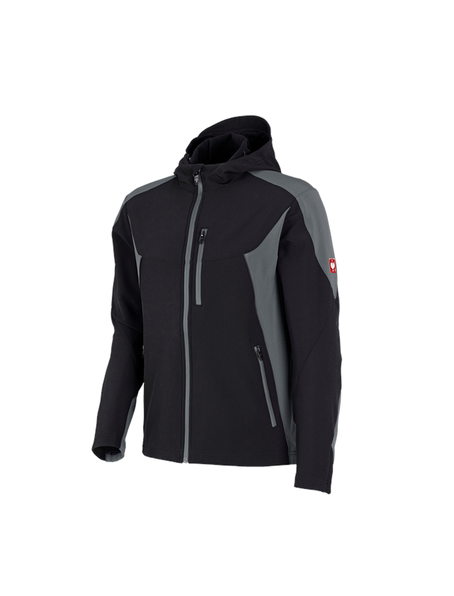 Work Jackets: Softshell jacket e.s.vision + black/cement