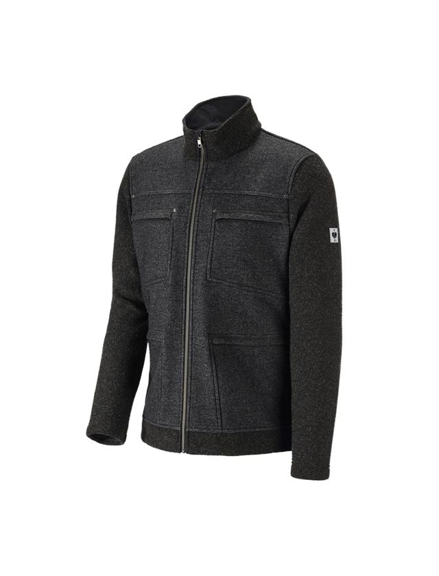 Work Jackets: Loden jacket e.s.vintage + black