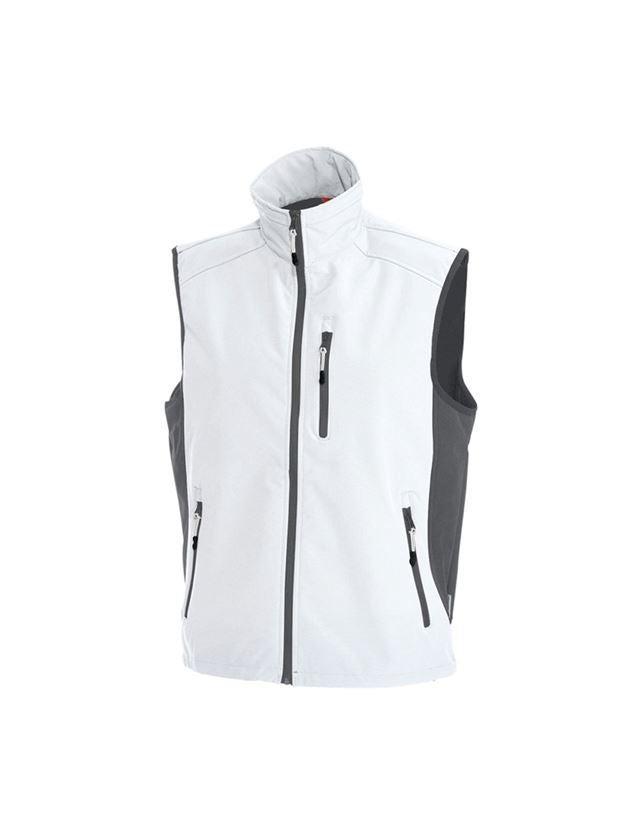 Work Body Warmer: Softshell bodywarmer dryplexx® softlight + white/grey