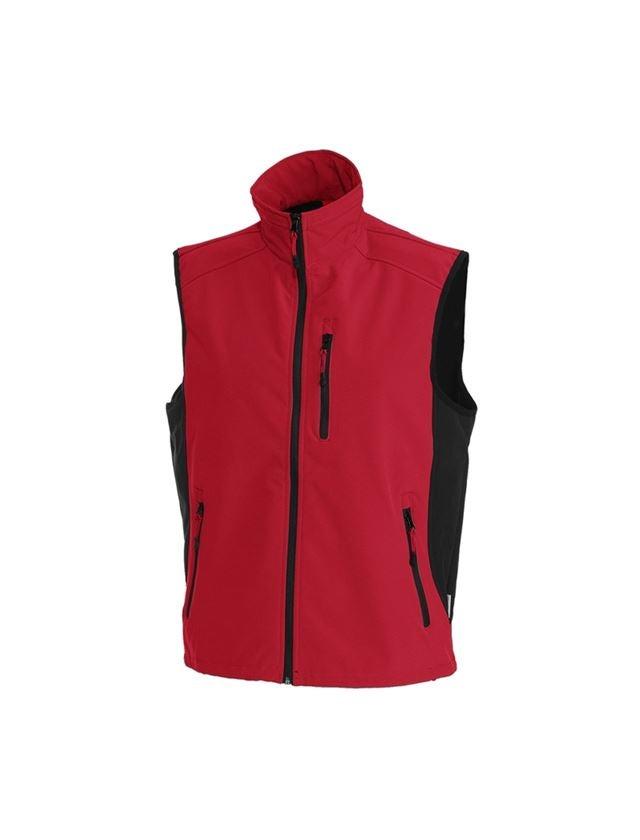 Work Body Warmer: Softshell bodywarmer dryplexx® softlight + red/black