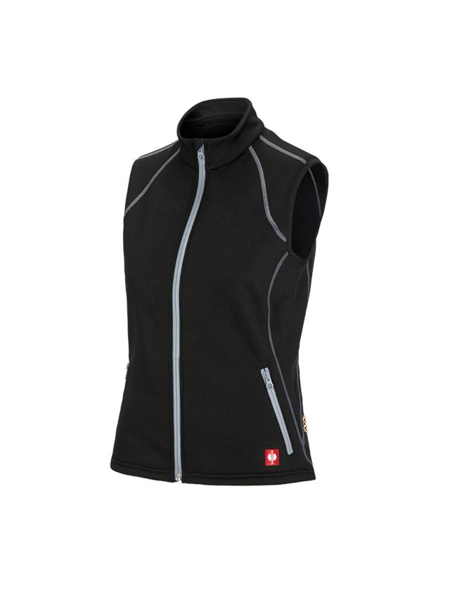 Work Body Warmer: Funct. bodyw. thermo stretch e.s.motion 2020,lad. + black/platinum
