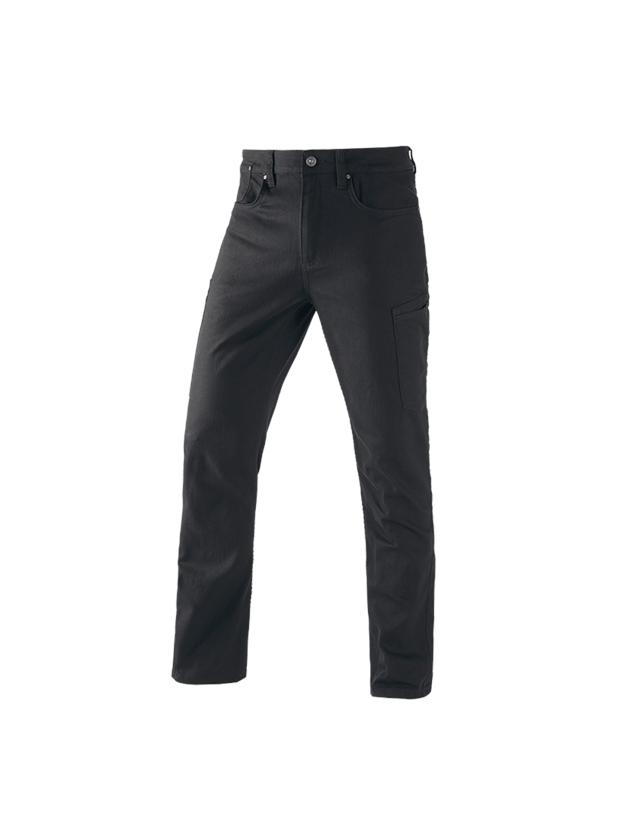 Work Trousers: e.s. 7-pocket jeans + black