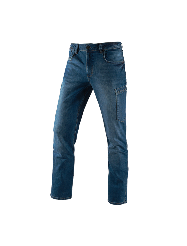 Pantalons de travail: e.s. Jeans à 7 poches + stonewashed