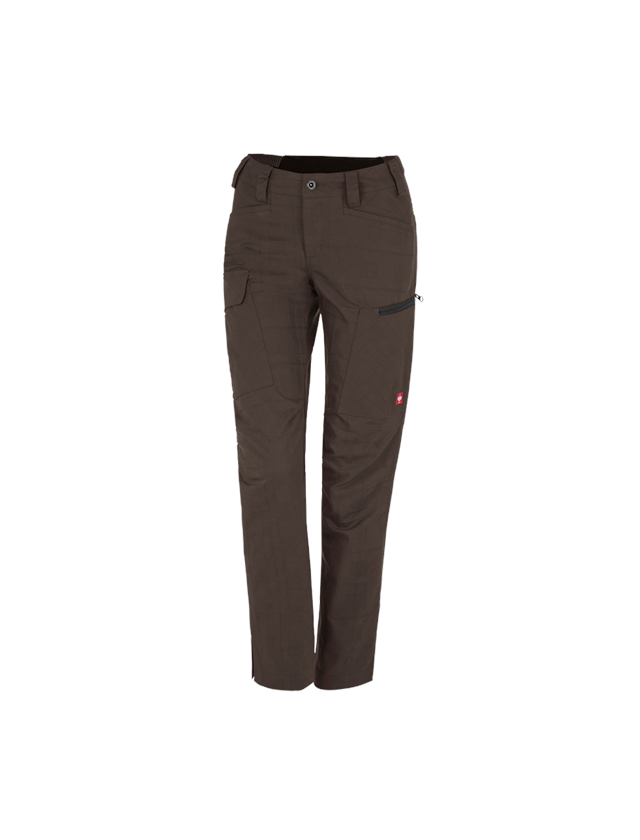 Work Trousers: e.s. Trousers pocket, ladies' + chestnut