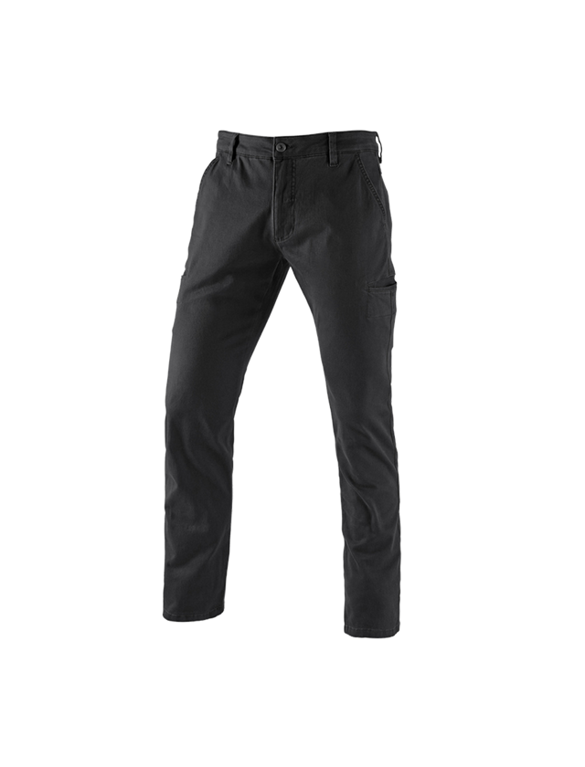 Work Trousers: e.s. Trousers Chino, men's + black