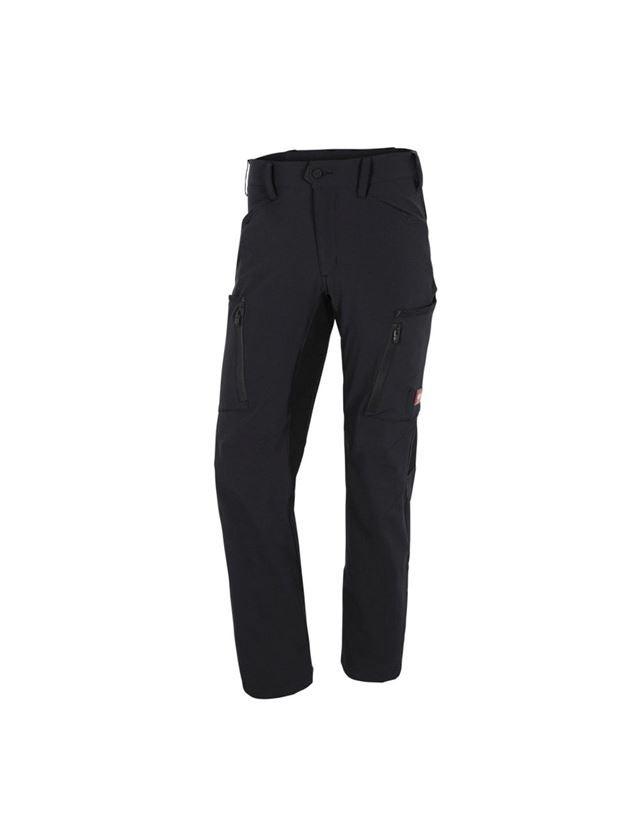 Pantalons de travail: Pantalon Cargo d'hiver e.s.vision stretch, hommes + noir