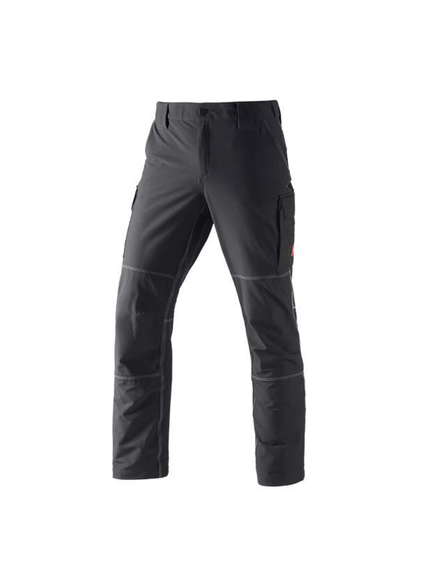 Pantalons de travail: Fonctionnel pantalon cargo d'hiver e.s.dynashield + noir