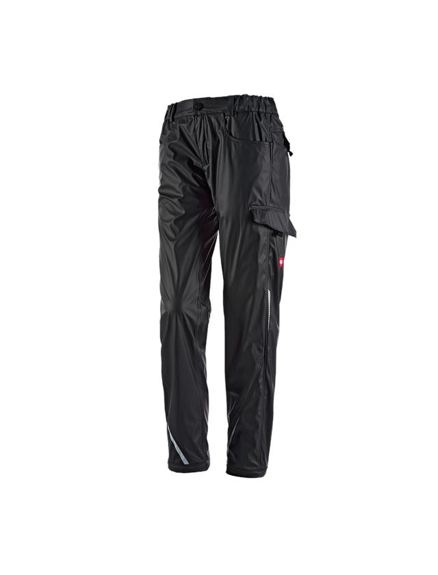Pantalons de travail: Pantalon taille pluie e.s.motion 2020 superflex, f + noir/platine