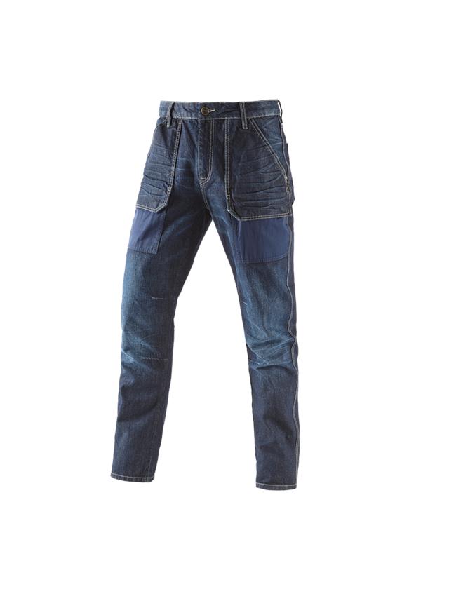 Work Trousers: e.s. 7-pocket jeans POWERdenim + darkwashed