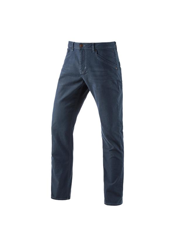 Work Trousers: 5-pocket Trousers e.s.vintage + arcticblue