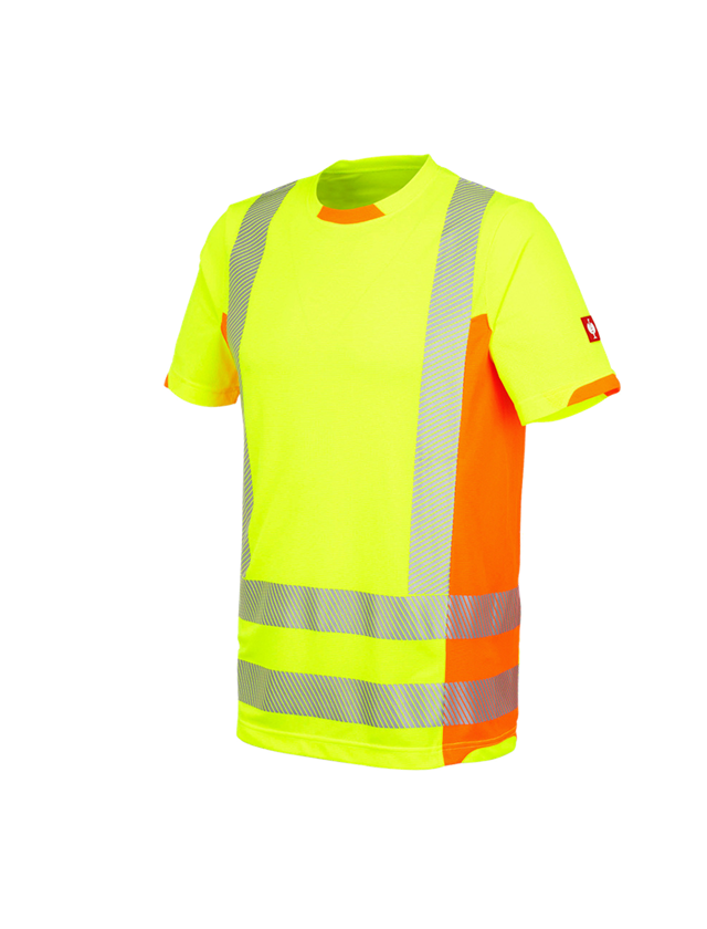 Shirts, Pullover & more: High-vis functional T-Shirt e.s.motion 2020 + high-vis yellow/high-vis orange