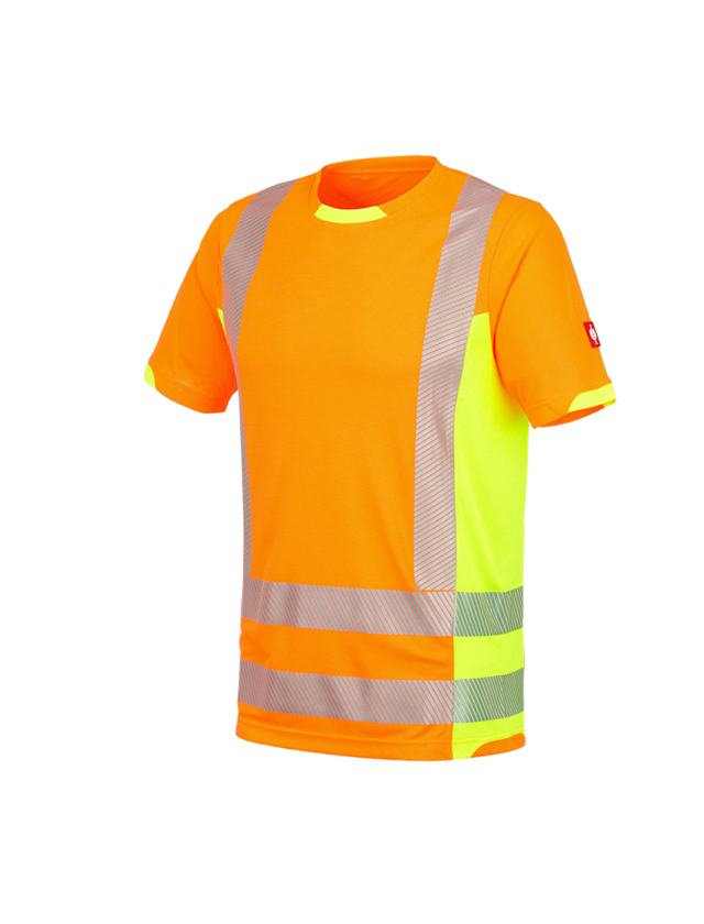 Shirts, Pullover & more: High-vis functional T-Shirt e.s.motion 2020 + high-vis orange/high-vis yellow