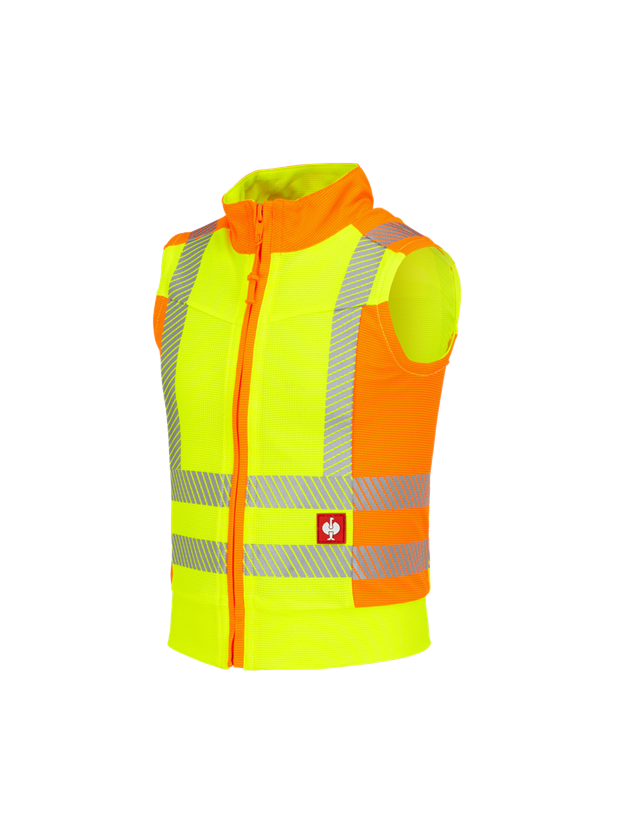 Body Warmer: High-vis function bodywarmer e.s.motion 2020, c. + high-vis yellow/high-vis orange