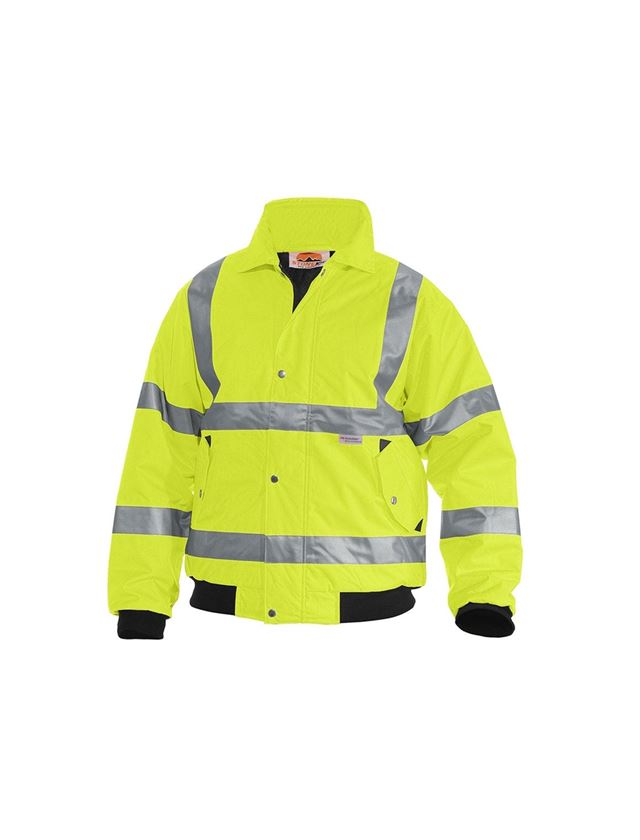 Vestes de travail: STONEKIT Blouson aviateur de signalisation + jaune fluo
