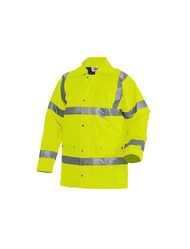 Work Jackets: STONEKIT High-vis parka + high-vis yellow