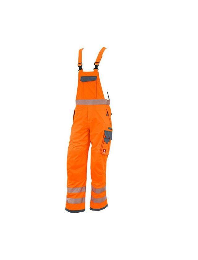 Pantalons de travail: Salopette fonctionnelle de signal. e.s.prestige + orange fluo/gris