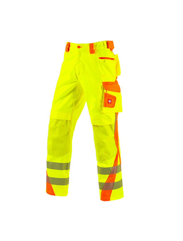 Work Trousers: High-vis trousers e.s.motion 2020 winter + high-vis yellow/high-vis orange