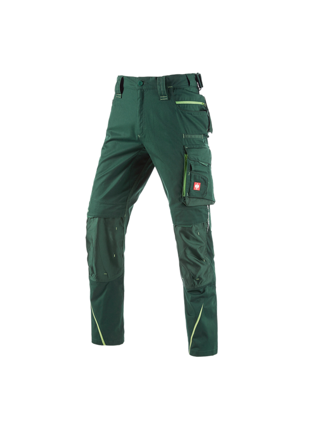 Work Trousers: Trousers e.s.motion 2020 + green/seagreen