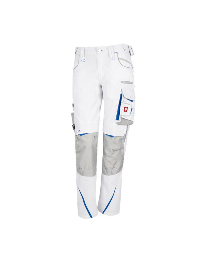 Hosen: Damenhose e.s.motion 2020 + weiß/enzianblau