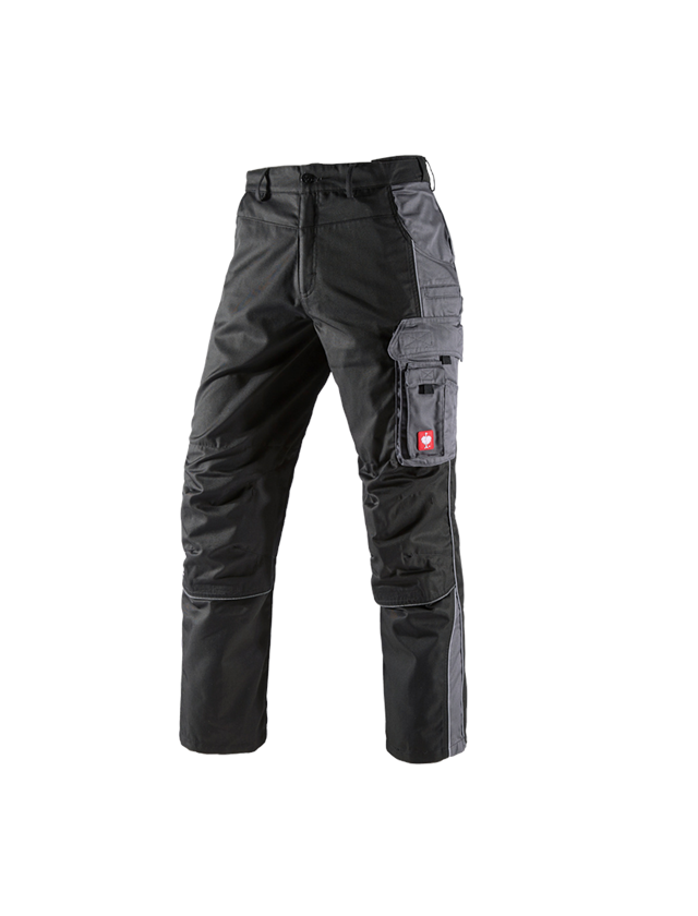 Work Trousers: Trousers e.s.active + black/anthracite