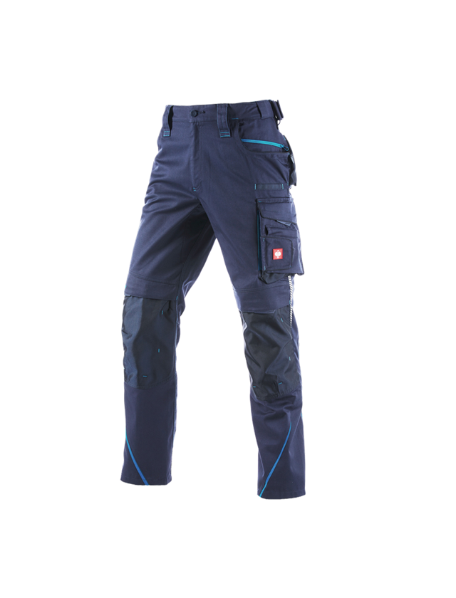 Work Trousers: Winter trousers e.s.motion 2020, men´s + navy/atoll