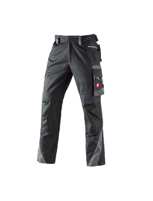 Work Trousers: Trousers e.s.motion + graphite/cement