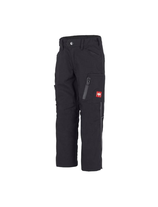 Pantalons: Pantalon élastique d'hiver e.s.vision, enfants + noir