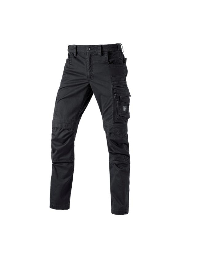 Work Trousers: Trousers e.s.motion ten + oxidblack