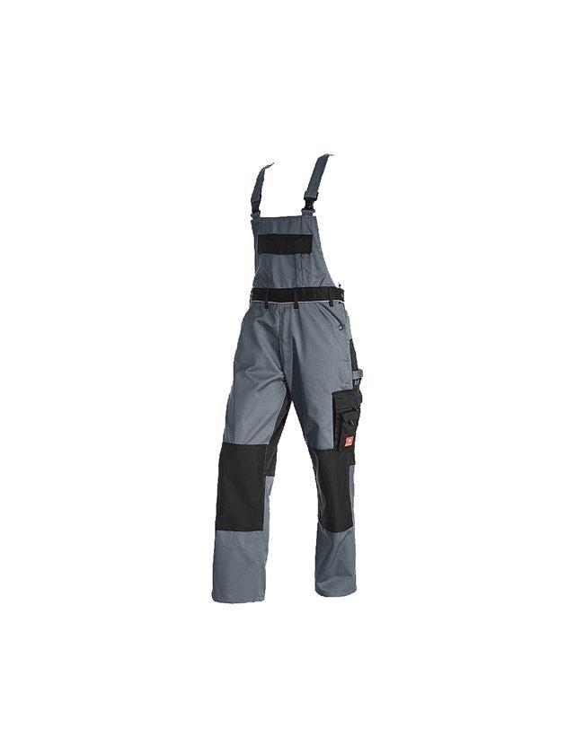 Pantalons de travail: Salopette e.s.image + gris/noir