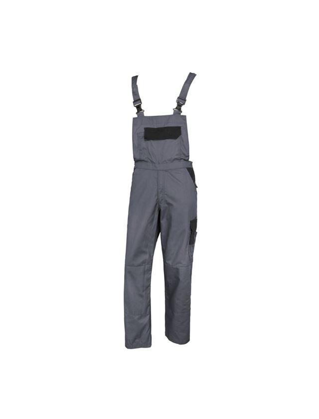 Pantalons de travail: STONEKIT Salopette Odense + gris/noir