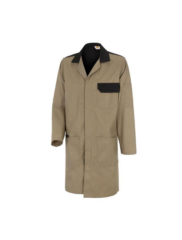 Healthcare    Work Coats: STONEKIT Work Coat Odense + khaki/black