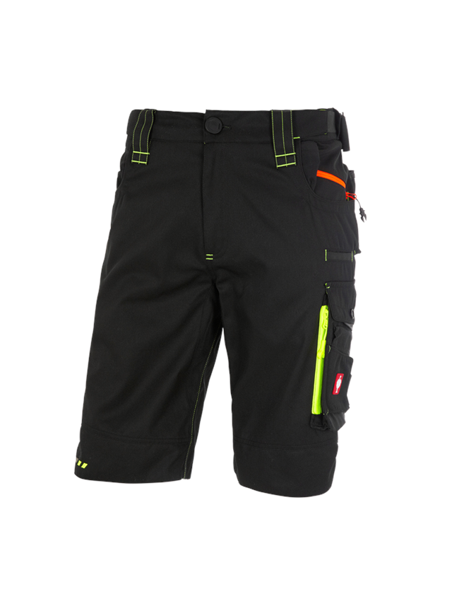 Work Trousers: Shorts e.s.motion 2020 + black/high-vis yellow/high-vis orange