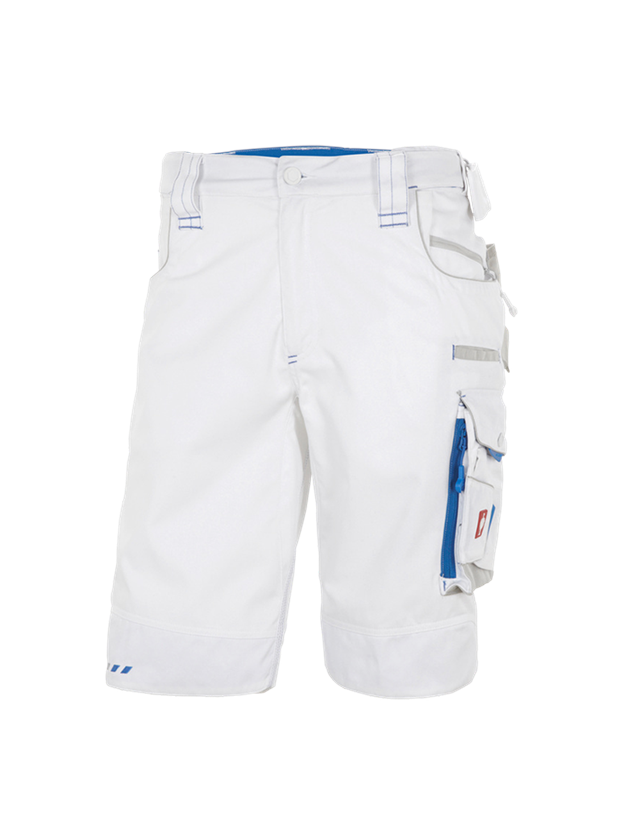 Work Trousers: Shorts e.s.motion 2020 + white/gentian blue