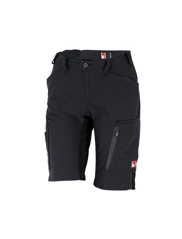 Work Trousers: Shorts e.s.vision, ladies' + black