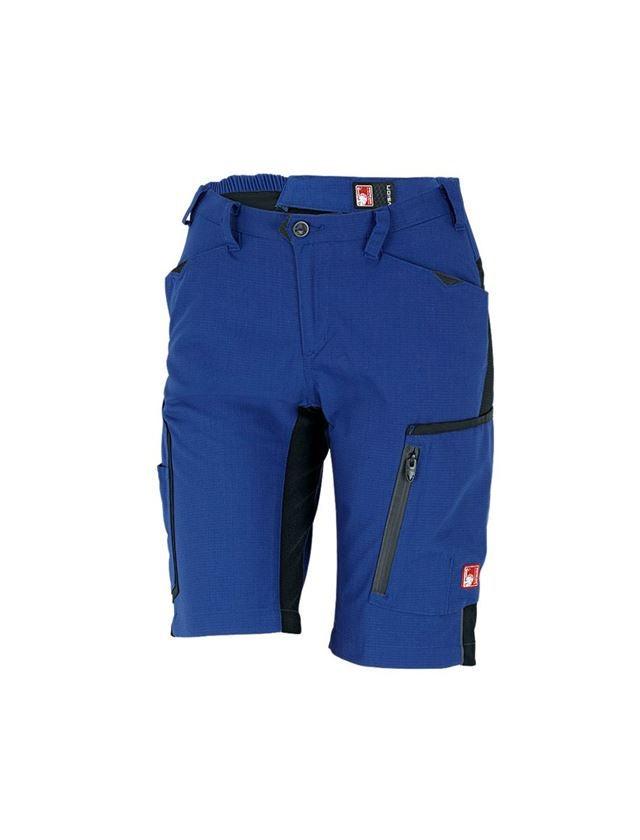 Work Trousers: Shorts e.s.vision, ladies' + royal/black