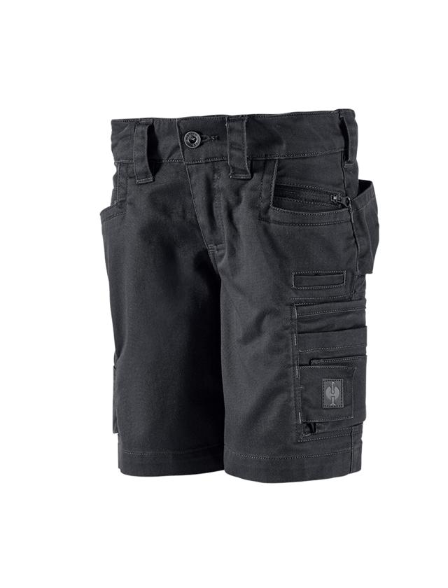 Shorts: Short e.s.motion ten, Kinder + oxidschwarz