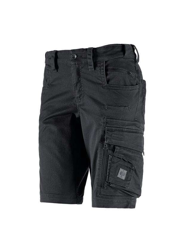 Work Trousers: Shorts e.s.motion ten, ladies' + oxidblack