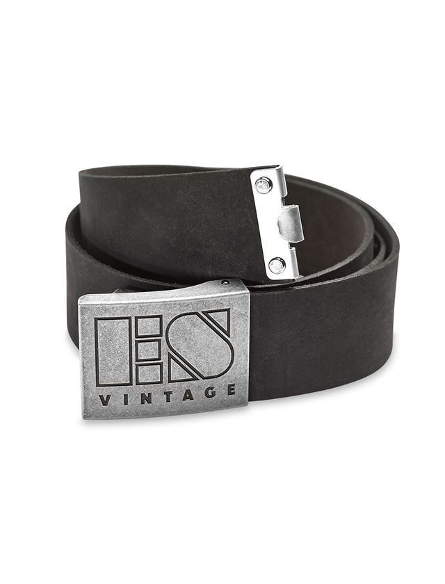 Accessories: Leather buckle belt e.s.vintage + black