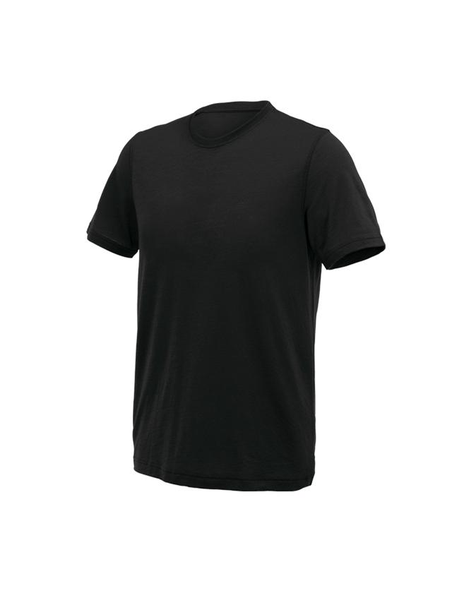 Shirts, Pullover & more: e.s. T-shirt Merino light + black