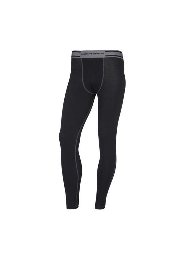 Underwear | Functional Underwear: e.s. cotton stretch long-pants + black