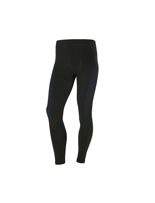 Underwear   Functional Underwear: e.s. functional long-pants seamless-warm + black/gentian blue