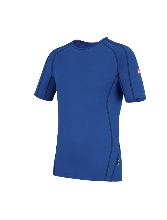 Unterwäsche | Thermokleidung: e.s. Funktions-T-Shirt clima-pro - warm, Herren + enzianblau